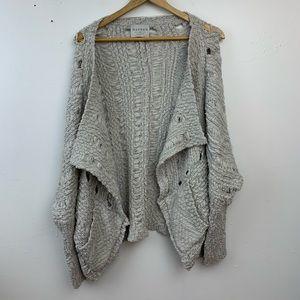 Boheme light gray oversized open cardigan